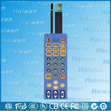 EL лист снаружи водонепроницаемый мембранный выключатель с цифровой кнопкой
