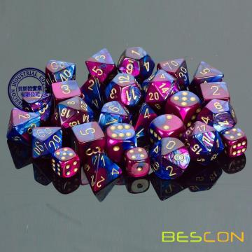 Custom Multi-colored 7pcs Polyhedral Dice Set