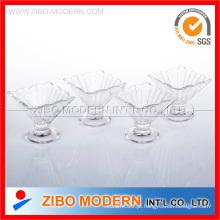 Conjunto de copo de sorvete de vidro 4PC