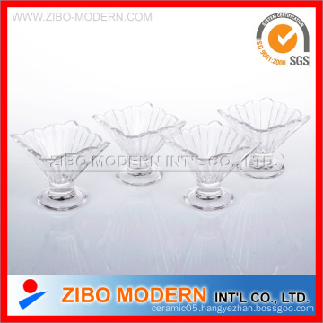 Set of 4PC Glass Ice Cream Cup