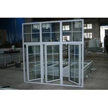 Fenêtre à double vitrage en aluminium de revêtement de poudre d'économie (BHA-CW026)