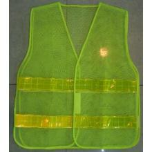 Yj-5028 Grüner Reflektor Hi Vis Sicherheits-Mesh-Weste Harness Incident Command Westen