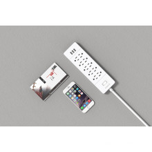 ORICO USP-10A3U-US Desktop ganze Haus kleine Surge Protector Steckdose 10 * AC + 3 * USB Ladegerät