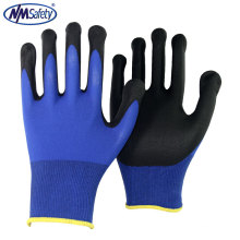 NMSAFETY 15G Baumwolle / Spandex Handschuh mit Micro Foam Nitril Coating