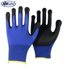 NMSAFETY 15г хлопок/спандекс перчатки с микро-пены Нитрила покрытием