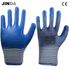 Nitrile Coated Zebra-Stripe Shell Working Gloves (U206)