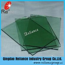Vidro de flutuador verde de 5mm F / vidro matizado com ISO