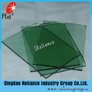 5mm F Green Float Glass/Tinted Glass with ISO