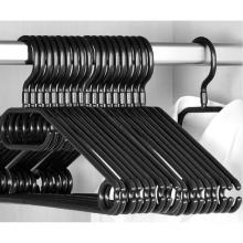 20pack Adult Swivel Hook Rotating Premium Heavy Duty plastic Coat Hangers Black Colour 40cm Wide