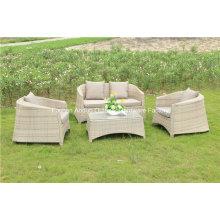 Garten-Weidenrattan-Sofa im Freien