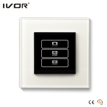 1 Gang Curtain Switch Glass Outline Frame (HR1000-GL-CT (AC1))