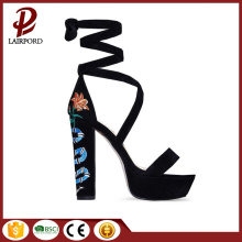 special Embroidery Flower stylish Sandals for women
