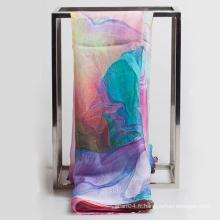 Écharpe en mousseline de soie à imprimé numérique Mode 2016
