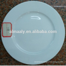 high white ceramic dinner plate round shape for star hotel