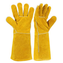 14'' Full Lining Cow Split Leather Protective Welding Gloves ZMR106