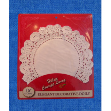 10inch kraft paper doily with back card
