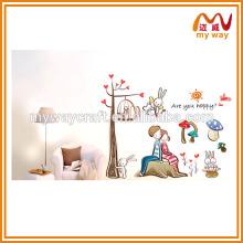 Calorosamente adesivos para decoração de casa, grandes adesivos de parede decorativos