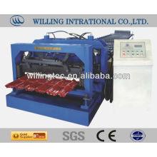Productos de calidad de Alibaba esmaltado metal telar azulejos rollo de la máquina para formar la estructura