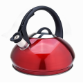 Stovetop tea kettle with whistling spout black