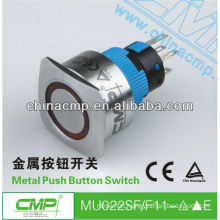 Square head 22mm CMP waterproof illuminated push button switch ip67