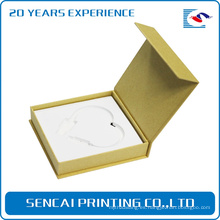 Caja de papel de embalaje en forma de libro de encargo del collar de SenCai