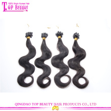 Factory direct sale top quality body wave hair extensions 100% virgin brazilian micro loop hair extensions