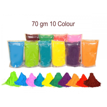 Festival Herbal Holi Colors 7 Packets 100gms Each