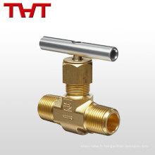 """Soupape de commande d'aiguille standard hydraulique 1/8 """"- 2"""" pour gaz"""