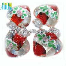 el pequeño corazón rojo de MOQ forma la botella de perfume colgantes murano