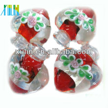 small MOQ red heart shapes perfume bottle murano pendants