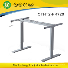Online shopping & height adjustable desk with hand crank & healthy adjustable metal frame