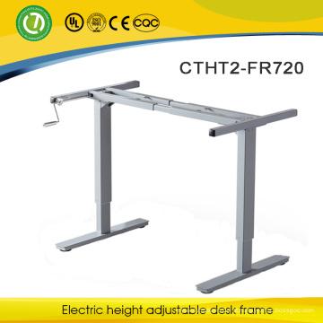 Quadro de mesa ajustável de altura manual & mobília moderna mão manivela mesa ajustável & mobiliário de economia de espaço