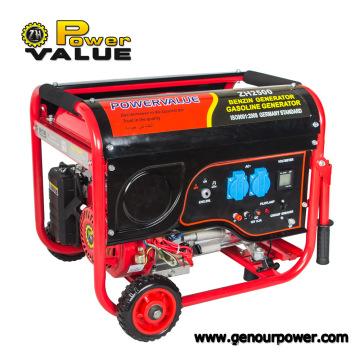 Petit générateur portatif de benzine de générateur d'essence de 2kw