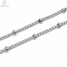 Großhandelspreis 925 Sterling Silber Runde Perlen Ketten