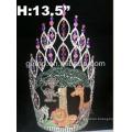 Elegante tiara de cristal