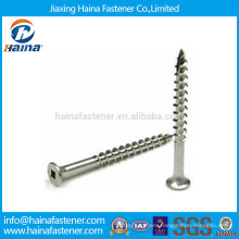 Stainless Steel 304 316 Square Drive Wood Screw