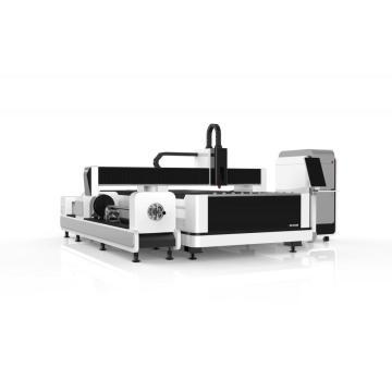 Máquina de corte a laser de fibra de tubo e placa