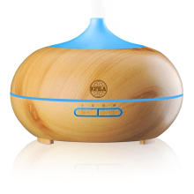 400ml Portable Wood Ultrasonic Cool Mist Aroma Diffuser