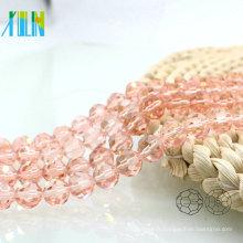 A5000 # -2 spécial couleur rose 32 à facettes Football ronde perles de verre rideaux cristal Pop perles