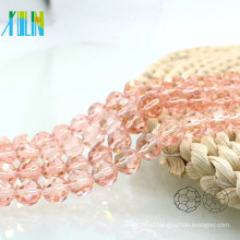 A5000#-2 Special Color Pink 32 Faceted Football Round Glass Beaded Curtains Crystal Pop Beads