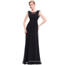 Starzz de longitud completa sin mangas de gasa negra sin mangas de vestidos de noche vestido largo 2016 ST000074-1