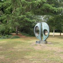 decoração ao ar livre círculos concêntricos jardim moderno escultura de metal
