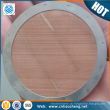 Ultrafeines wiederverwendbares Edelstahlgewebe für Aeropress / Coffee Screen Filter Disc für Espresso