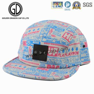 2016 5-painel de algodão colorido campista Snapback Cap com logotipo personalizado