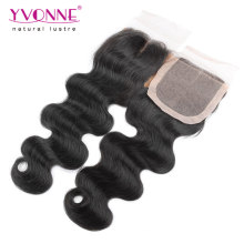 Middle Part Brazilian Body Wave Silk Base Closure