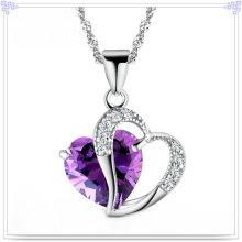 Colar de pingente de cristal 925 jóias de prata esterlina (NC0010)