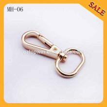MH06 La hebilla del perro del metal del oro de la manera ajusta el gancho del broche de presión del acollador, mini gancho de presión