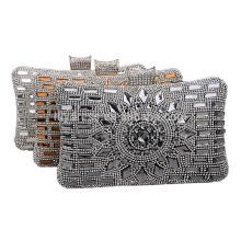 Perles de cristal Ladies Evening Dinner Clutch Bag Sac de mariée pour la soirée de mariage Soirée à usage unique Sacs à main nuptiaux B00039 shopping sac à main