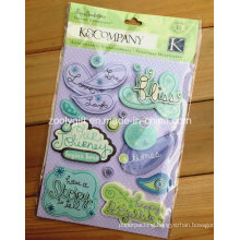 Handmade Paper Die-Cut Craft Scrapbooking Embellishments Glitter Adhesive Dimensional Stickers