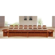 Овальные длинные Подгонянный античный деревянный Конференц-зал зал заседаний стол со стулом